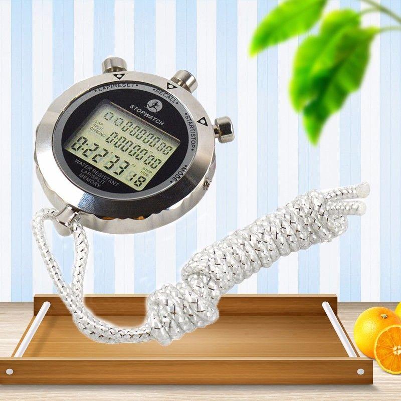 Cronometrando à Prova Calendário para Esportes Relógio Cronômetro Esporte Digital Temporizador 1 – 100 Segundos Dwaterproof Água Cordão Eletrônico Cronógrafo Alarme