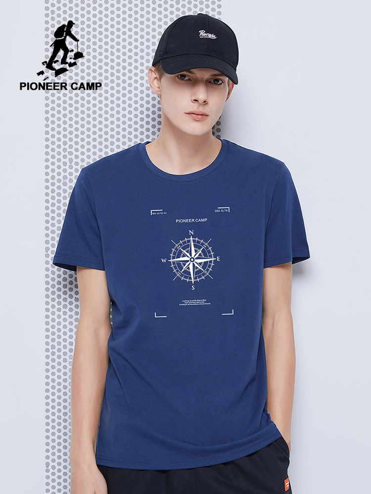 Pioneer Camp Hip Hop Tshirts Men Streetwear Summer 100% Cotton Black Blue Gray Short Sleeve T-shirts For Male 2020 ADT0223023L