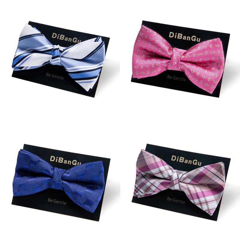 Kids Bowtie Boys Girls Bow Tie Pink Blue Wedding Party Adjustable Children Neck Tie Butterfly Bowknot Cravat DiBanGu