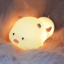Night Light Touch Sensor USB Rechargeable Silicone LED Animal Bedroom Beside Night Lamps For Baby Children Kids Gift Desk Lamp mumeng led night light motion sensor baby usb cute whale rechargeable children night lamp toy lights silicone safety dolphin