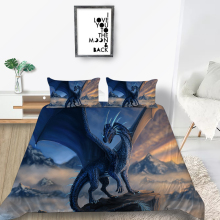 Dragon Bedding Set King Size Fashionable Cool Myst