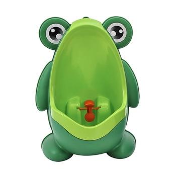 Frog Baby Potty Toilet Urinal Kids Potty Training Baby Boys Pee Toilet Infant Bathroom Wall-Mounted Urinal Girls Travel Potty