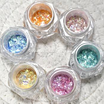 2020 Manicure nowy Opal proszek spolaryzowany proszek ultra-cienki cekiny brokatowy proszek śnieg aksamitny proszek zdobienie paznokci dekoracje TSLM1 tanie i dobre opinie CN (pochodzenie) 15 g Nail Glitter Dropshipping