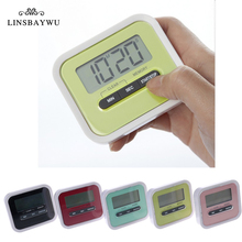 1PC Practical Use Digital Large LCD Display Home Kitchen Timer Electronic Kitchen Cooking Timer Stopwatch Red Black Wholesale