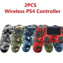 Mando inalámbrico para PS4, Joystick de 6 ejes con doble vibración para PS4, PC, IPAD, Android, iPhone, 2 unidades