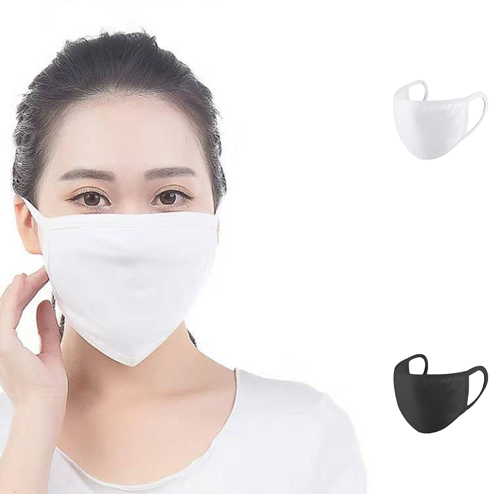 Unisex Dust Proof Windproof Cotton Mouth Mask Breathable Washable Men Women Mask Face Cover Black Masks Anti Dust Mask