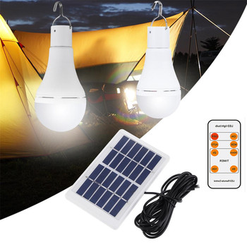 9W 25LED Solar Light Outdoor Hanging Lamp 5 Modes Portable Rechargeable Bulb USB Charged For Camping Tent Fishing Emergency Lamp 25led solar camping light solar multifunction remote control lights solar hanging light tent light