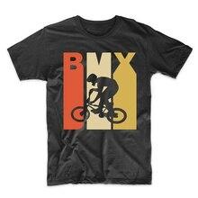 Vintage Retro 1970 estilo Bmx bicicleta Rider deportes camiseta Homme personalizada camiseta