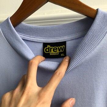 Top Quality 2020ss Drew House Smile Face Melt Short Sleeve T Shirt Men Women Couples Tees Justin Bieber 100% Cotton T-Shirt 8