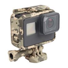 цена на For Gopro Camouflage Color Standard Border Frame Protective Housing Case Cover for GoPro Hero 7 black 6 5 Hero5 Hero6