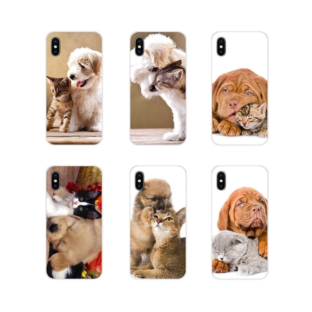 Accessoires téléphone coque couvre mignon animal chien chat pour Samsung A10 A30 A40 A50 A60 A70 Galaxy S2 Note 2 3 Grand Core Prime