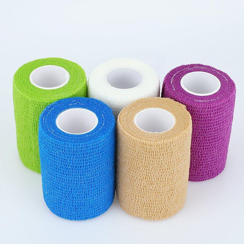 1/3/5pcs Medical Therapy Self Adhesive Bandage Emergency Muscle Tape Finger Joints Wrap First Aid Kit Elastic Bandage 7.5cm*4.5m