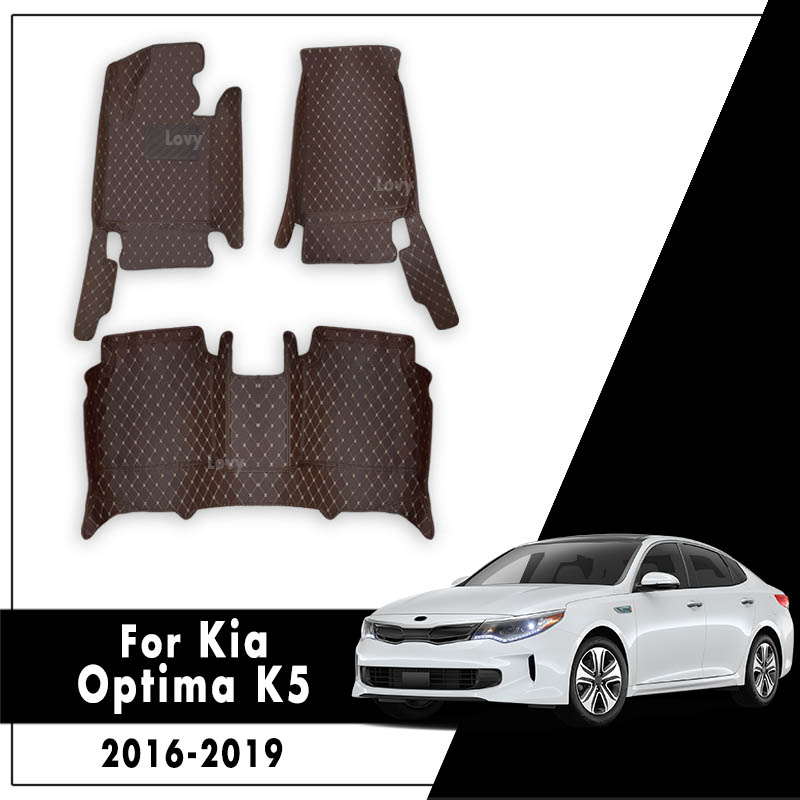 Leather Rugs Dash Mats Cargo Liners Pads Auto Interior Accessories Car Floor Mats For Kia Optima K5 JF 2016 2017 2018 2019 image