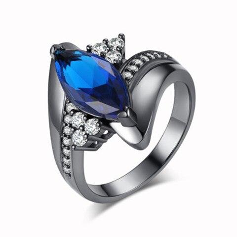 Горячая Распродажа, дизайн, роскошное большое овальное CZ кольцо золотого цвета, обручальное кольцо, хорошее ювелирное изделие для женщин, ювелирных изделий - Цвет основного камня: blue