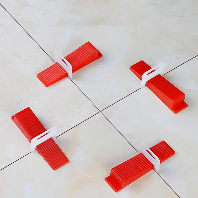 100pcs Tile Levellers Mini Level Wedges Alignment Tile Spacers Provide Smooth Surface For Wall Masonry Reusable