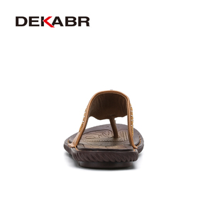 Image 3 - DEKABR COWหนังผู้ชายรองเท้าแตะชายหาดแฟชั่นFlip Flopsนุ่มอินเทรนด์Breathableง่ายต่อการจับคู่รองเท้าฤดูร้อนผู้ชาย