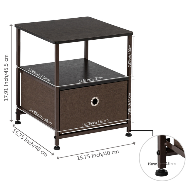 Nightstand 1-Drawer  & Accent End Table  3