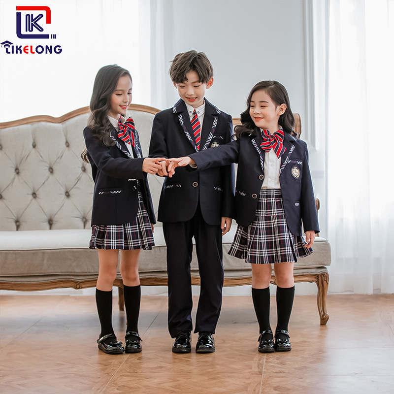 Korea Can Long 2019 New Style British Style Kindergarten Suit Set Young STUDENT'S School Uniform College Business Attire