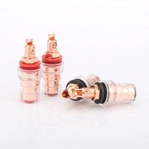 Image 2 - Audiocrast 4pcs High quality pure copper 99.998% Binding posts audio speaker terminal