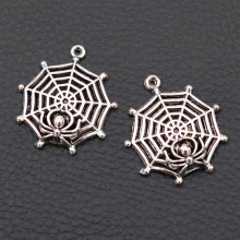 31*27mm Spider Web Pendant, Black Widow Charms, DIY Handmade Jewelry Charm, Tibetan Silver Tone A2007 8pcs