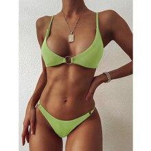 2021 Sexy Bikini Women Swimsuit Push Up Swimwear Female Low Waist Two Pieces Bikini Set Brazilian Bathing Suit Summer Beach Wear