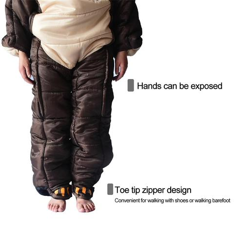 wearable de corpo inteiro saco dormir