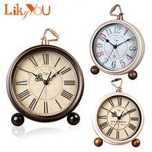 Relojes de escritorio digitales romanos calientes agujas antiguas Retro grandes relojes despertadores vintage relojes de escritorio retro Para decoración del hogar
