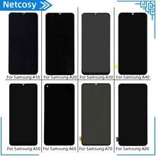 Do Samsung Galaxy A10 A20 A30 A40 A50 A60 A70 A80 wyświetlacz LCD + ekran dotykowy Digitizer montaż LCD pełny ekran