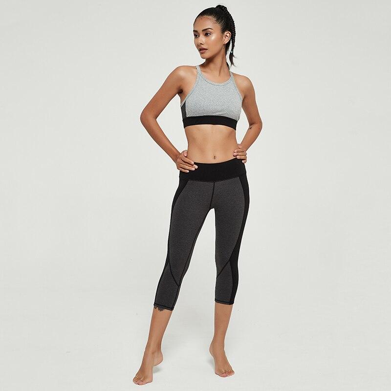 Cardism High Waist Women's Yoga Pants  Sports Leggings For Fitness  Calf-Length Running Push Up Sweatpants Splicing Women Pants 5
