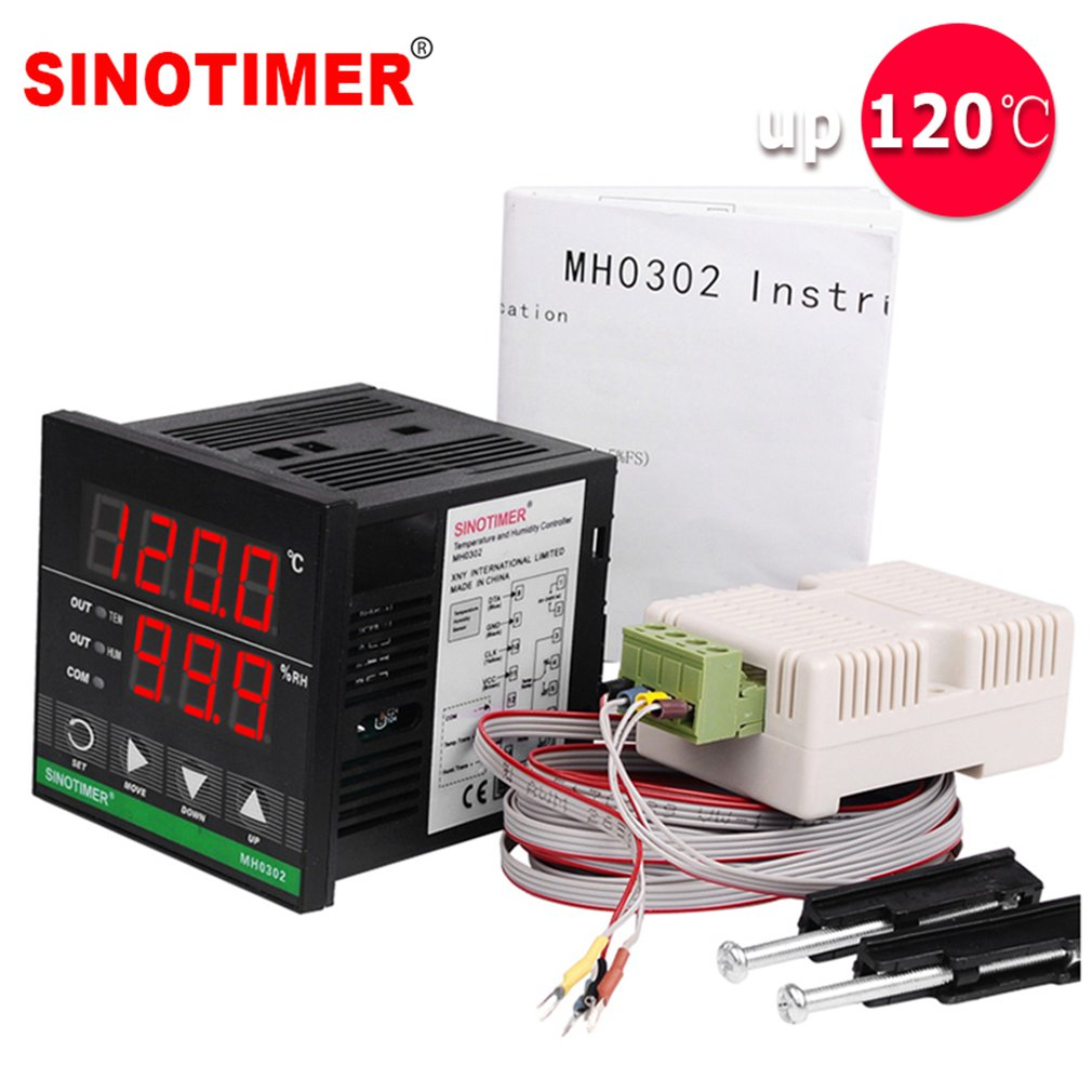Intelligent High-precision Digital Display Temperature And Humidity Controller 85-265V Used In Greenhouse Breeding Incubator