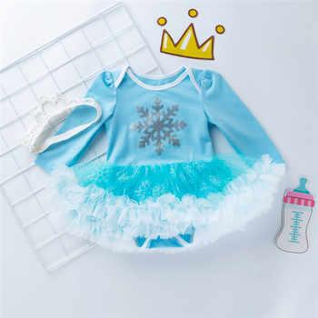 Christmas 2020 Newborn Elsa Dress 4pcs/set Baby Girls Clothes Toddler Girl Clothing Set Infant Superman Batman Costume Xmas Gift