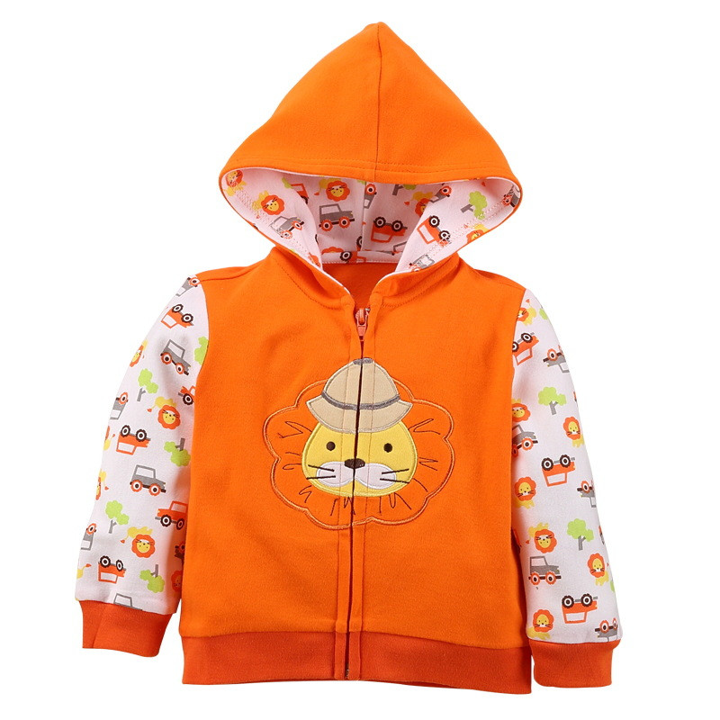 2018 baby boys girls hooded sweatshirts cotton cartoon tops truck flower whale out wear kids clothes for newborn 3m-18m 1