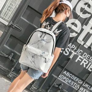 Image 4 - Women Backpack Fashion Marble Stone Print School Bag Teenager Canvas Rucksack Girls School Student Casual Travel Shoulder Bag