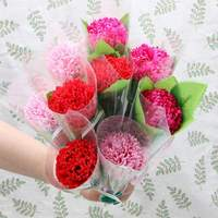Packed Carnation Soap Artificial Flower Petals Bath Soap Fake Flowers Gift For Mother's Day Home Office Decoration 1