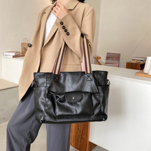 Vintage Large PU Leather Crossbody Bags for Women 2020 Winte
