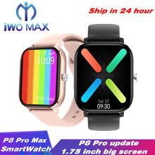P8 pro max 1.75 polegada de tela dt36 smartwatch masculino toque completo fitness rastreador pressão arterial banda inteligente feminino gts estilo pk dt35 dtx