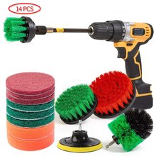 Drill Brush Scrub Pads 14 Piece Power Scrubber Cleaning Kit All Purpose Cleaner Scrubbing Cordless Drill for Cleaning Pool