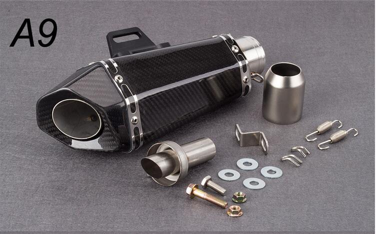 Akrapovic 51/60mm motorcycle <font><b>exhaust</b></font> pipe full carbon fiber <font><b>exhaust</b></font> pipe with DB KILLER for Z900 cb1000rr s1000rr <font><b>S1000r</b></font> image