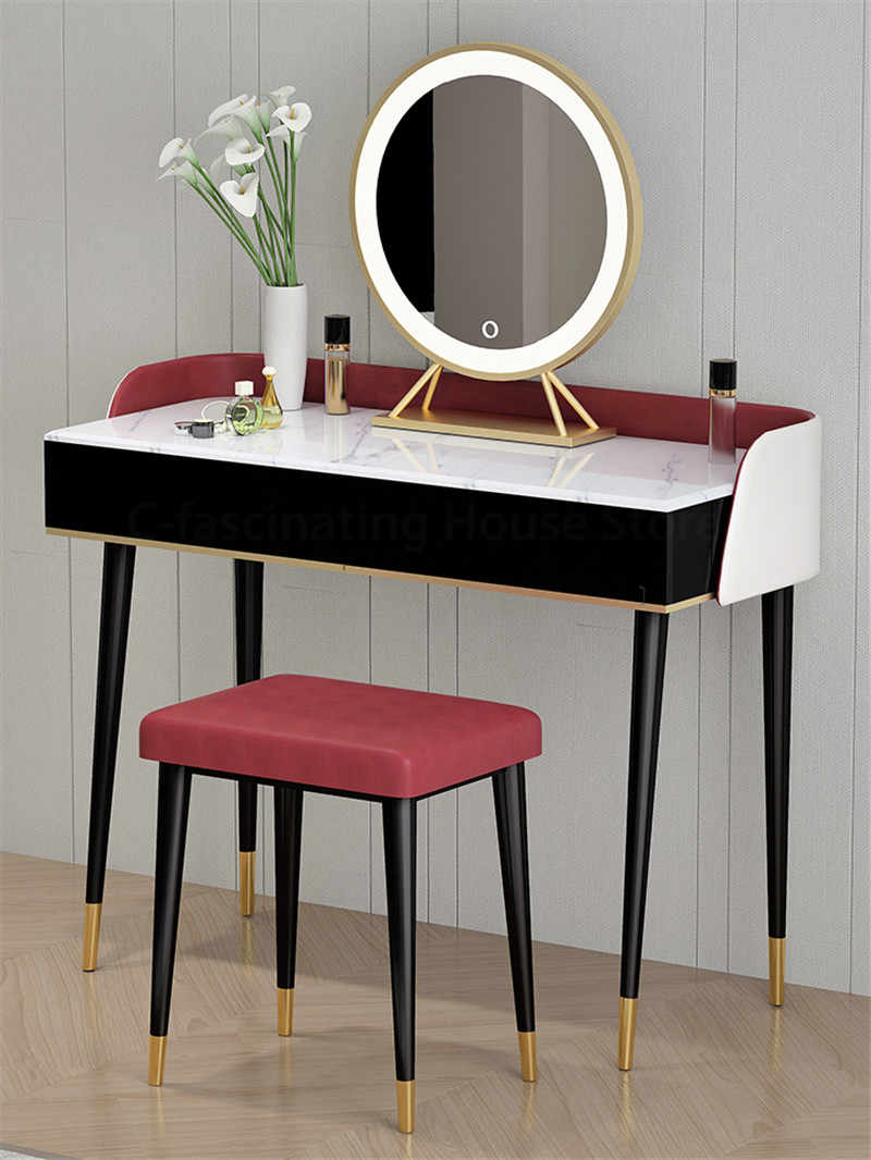 Light Luxury Piano Dressing Table Nordic Style Vanity Table Postmodern Muebles De Dormitorio Dressers For Bedroom Furniture Set Aliexpress