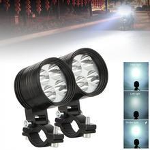 1 PC עמיד למים 4/6 LED 40W 6000K אוניברסלי רכב אופנוע פנס ערפל אורות הנורה DRL מנורה