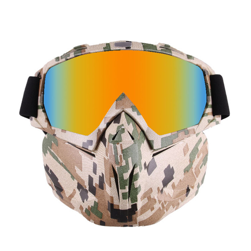 Camouflage Paintball Shooting Mask With Goggles Anti-impact CS War Game Hunting Mask Outdoor Airsoft Military Tactical Mask