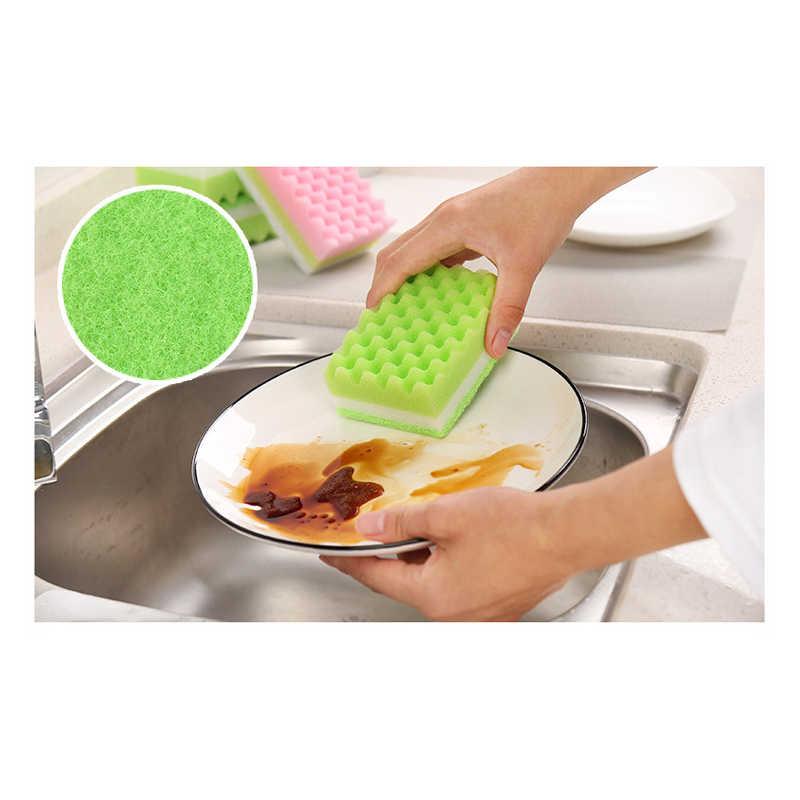 12 יח'\שקית מטבח שטיפת כלים ספוג בלוק כרית קרצוף ספוג ניקוי בלוק דו צדדי חזק טיהור לשטוף סיר לנגב