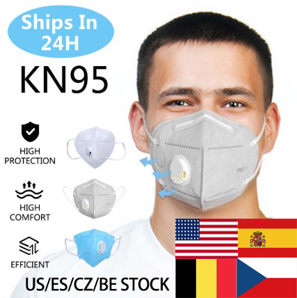 20pcs KN95 Valve Mask 5 Layer Flu Anti Infection N95 Protective Masks Ffp2 Respirator PM2.5 Safety Same As KF94 FFP3