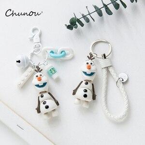 Śliczny brelok z lalką Cartoon Frozen 2 Snowman Olaf brelok urok ozdoba dla kobiet dziewczyn torba kluczyk do samochodu dzieci prezent hurtownie