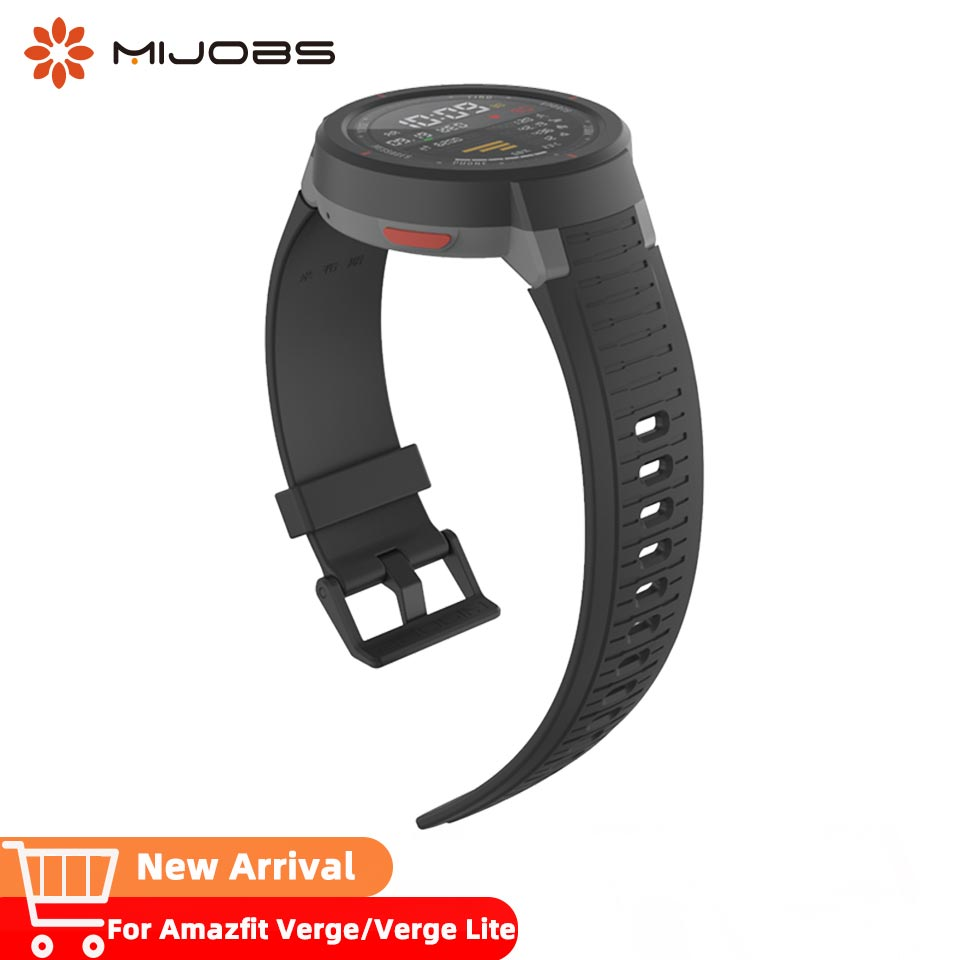 Mijobs watch <font><b>strap</b></font> for <font><b>Amazfit</b></font> verge wristband Huami repalcement bracelet accessories watch band for verge <font><b>lite</b></font> watch Pulsera image
