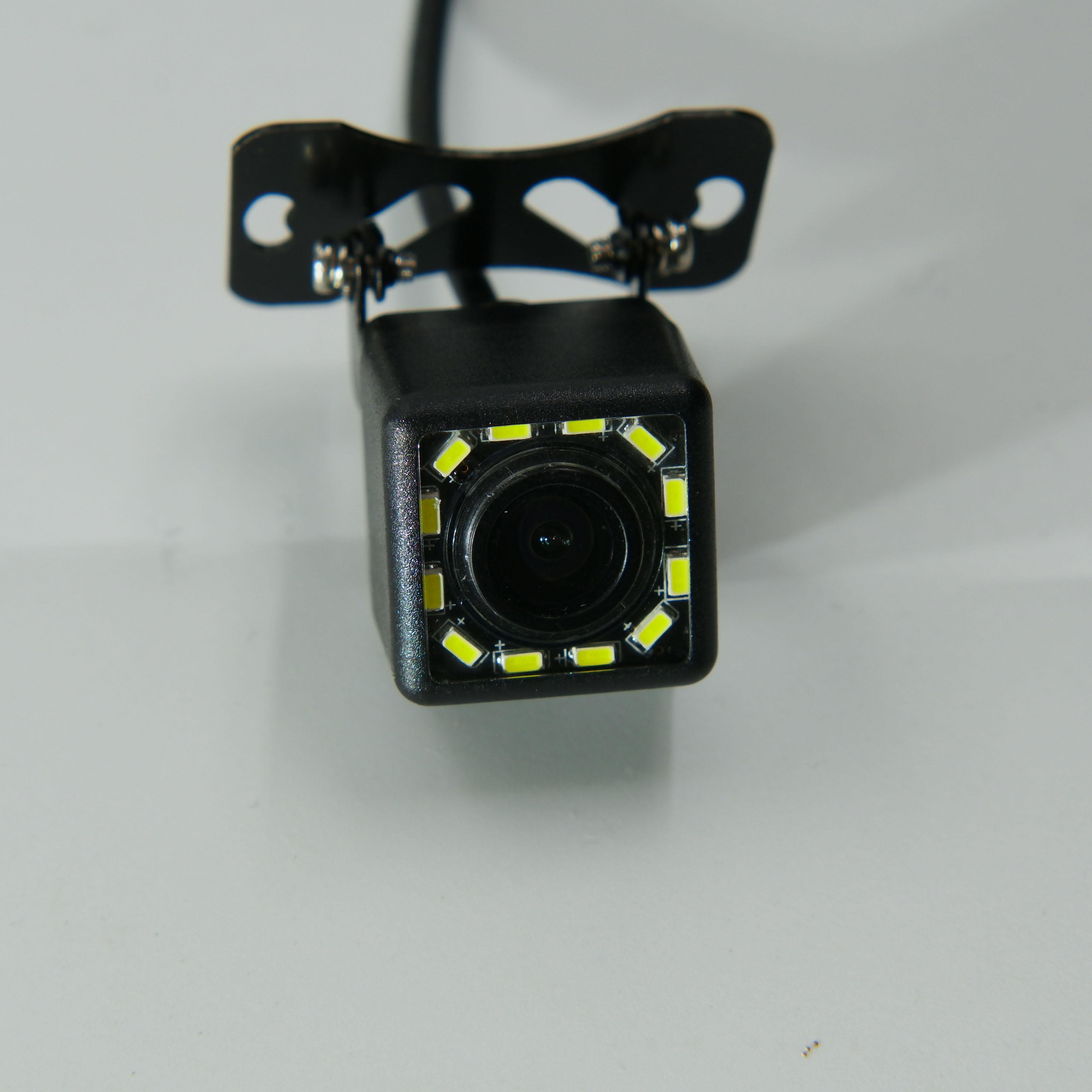 BYNCG Автомобильная камера заднего вида Универсальная 12 Светодиодный ночного видения дублирующая для парковки заднего вида камера Водонепроницаемая 170 широкоугольная HD цветное изображение - Название цвета: 12 led camera