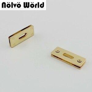 Image 1 - 20pcs 44X16mm Oro Tono Argento quadrato anello di tenuta per la borsa borse cinghie della cinghia del braccialetto collegare in metallo, lega di occhielli con viti