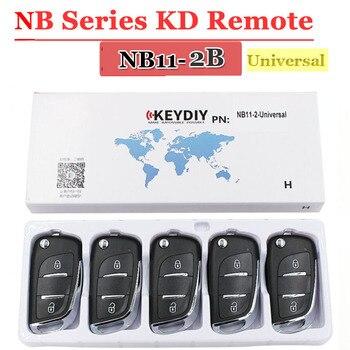 KEYDIY KD Remote NB11 Universal Multi-Functional 2 Button NB Series Key for KD900 URG200 Master Tool (5Pcs/Lot) - sale item Security Alarm