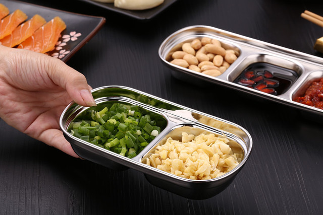 Фото дисковая кухонная тарелка из нержавеющей стали для барбекю суши цена