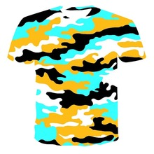 3D New Camouflage Men's Series T-Shirt Summer Clothing Comfortable And Breathable Plus Size Clothing 110-6XL (Customizable)